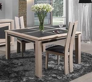 Table Carree Chene : table carr e dessus c ramique ~ Teatrodelosmanantiales.com Idées de Décoration