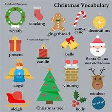 Christmas Vocabulary #english Wwwvocabularypagecom Esl