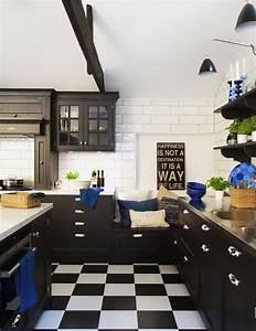 Cuisine Blanc Et Noir : decoration cuisine noir et blanc ~ Voncanada.com Idées de Décoration