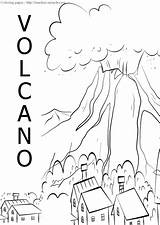 Volcano Coloring Sheets Timeless Miracle Pages sketch template