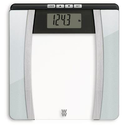 body analysis glass scale silver weight watchers target