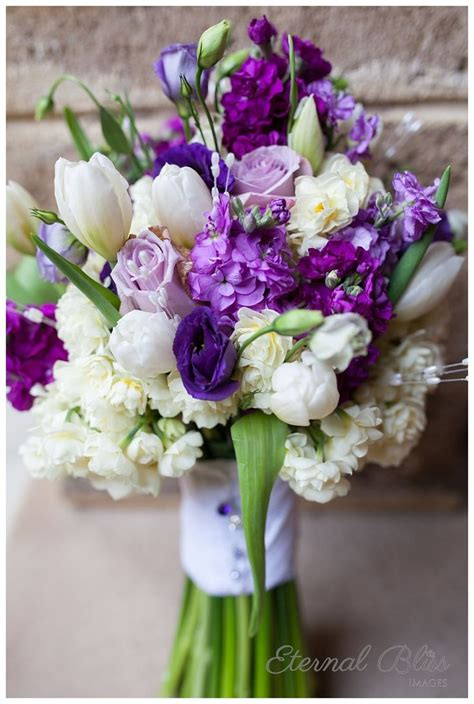 stunning bouquet  purple  white flowers including