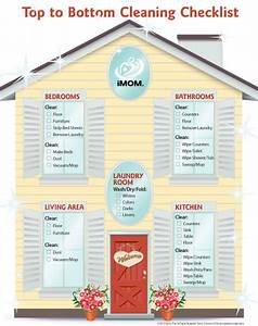 Meal Planning Chart Top To Bottom Cleaning Checklist Imom