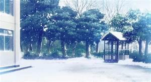 gif snow winter mine anime mygif scenery anime scenery ...