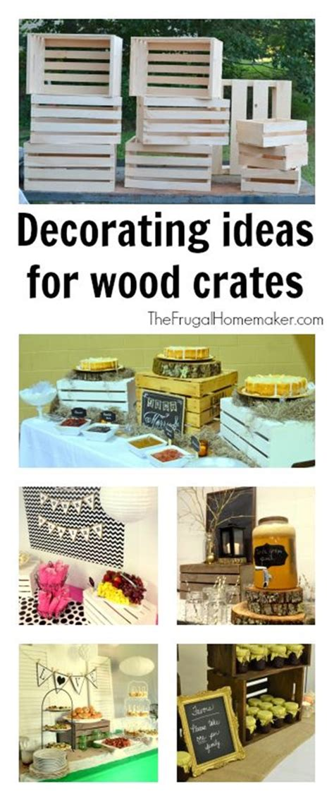 Decorating Ideas With Crates by Using Wood Crates To Decorate For Weddings And