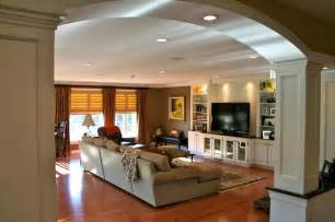 kitchen great room ideas colonial kitchen and great room addition traditional family room boston by michael hally