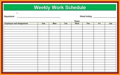 Resume Snapshot Exle by 4 5 Work Schedule Template Resumete