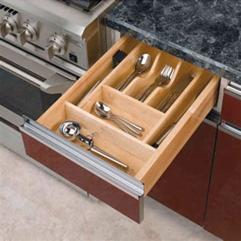 wood kitchen drawer organizer inserts rev  shelf wct