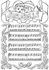 Bells Jingle Sheet Coloring Printable Christmas Pages Thegraphicsfairy Fairy Piano Pdf Graphics Graphicsfairy Colouring Lyrics Sheets Books Printables Children Line sketch template