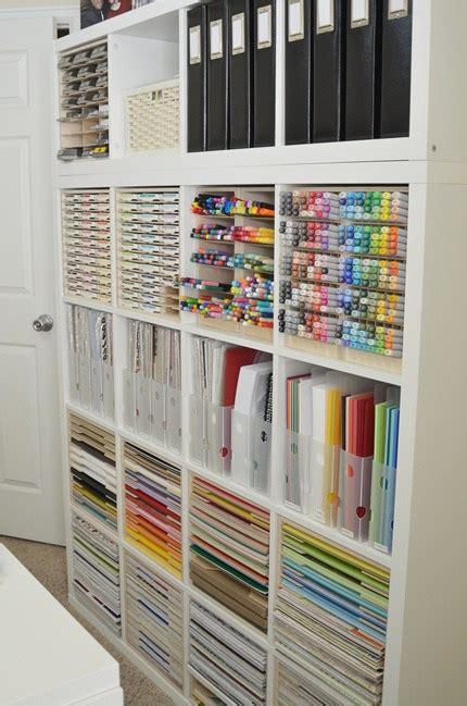 craft room storage cabinets paper craft storage in ikea kallax shelving scrap booking