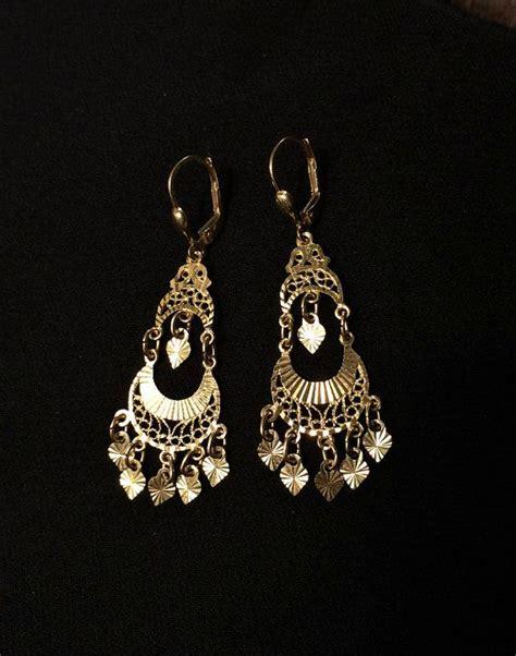 14k Gold Chandelier Earrings by 14k Gold Chandelier Earrings Gold Dangle
