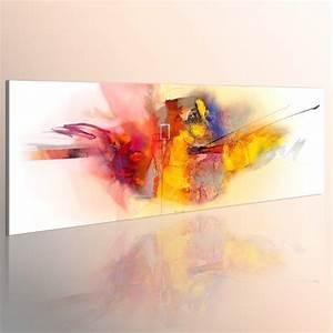Leinwand 5 Teilig : murando handbemalte bilder auf leinwand abstrakt 120 40 cm 1 teilig leinwandbilder ~ Whattoseeinmadrid.com Haus und Dekorationen