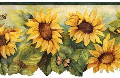 Wallpaper Of Border by Sunflower With Green Edge Wallpaper Border Bg71362dc