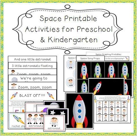 Space Printables For Preschool And Kindergarten Teaching The Little People