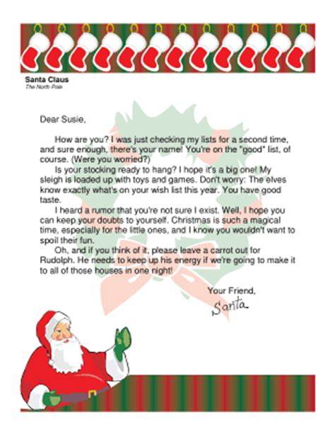 letter to child about santa letter from santa to child who might not believe 28277