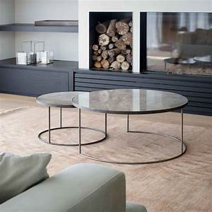Round nesting coffee table set sofa sideborde casashopping for Circle nesting coffee table