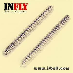 Stud bolts one end machine thread, one end wood threaded screw