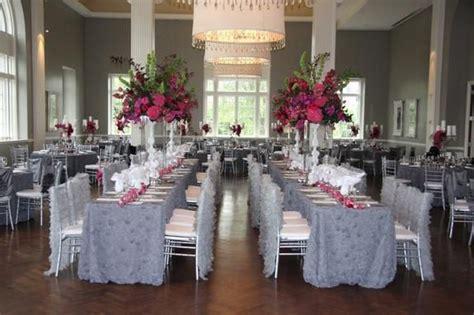 gray  fuschia wedding linen effects minneapolis mn