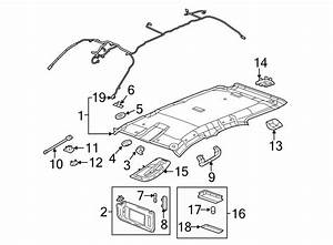 Gmc Terrain Headliner Wiring Harness  W  O Sunroof  W  Noise