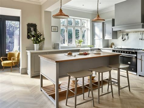 lights for kitchens surbiton bespoke light grey kitchen transitional 3787