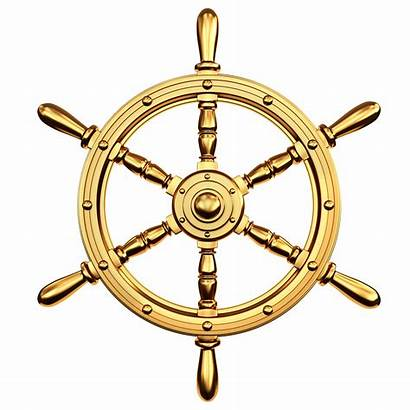 Wheel Ship Steering Ships Clipart Clip Golden