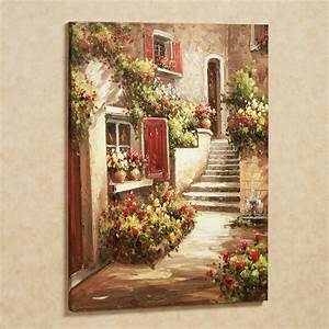 Tuscan flowers canvas wall art for Tuscan wall art