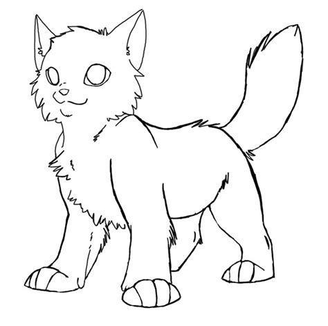 Cat Template Warrior Cats Kit Coloring Pages
