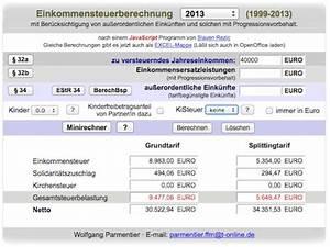 Steuerrückerstattung Berechnen : steuererklarung rechner kfz versicherung ~ Themetempest.com Abrechnung