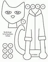 Coloring Cat Pete Xyz sketch template