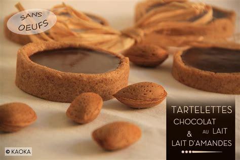 tartelettes chocolat au lait lait d amandes les chocomaniaks