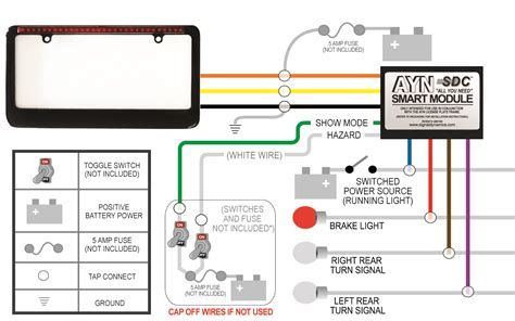 Wiring Diagram For Auto Light Switch by Black Ayn Automotive License Plate Frame Smart Module