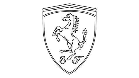 ferrari logo sketch how to draw the ferrari logo symbol emblem youtube