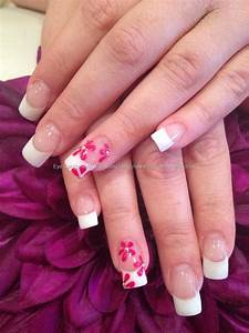 Clear Nail Designs With Flowers Eye Candy Nails Training White And Clear Acrylic Nails