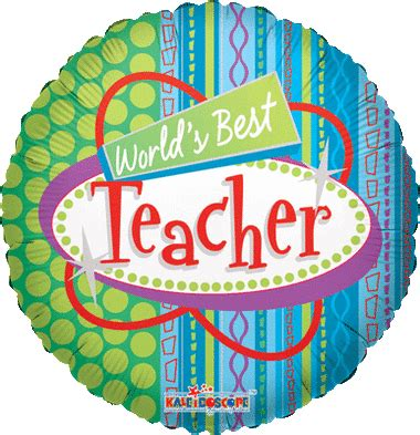 worlds  teacher mylar foil balloons wholesale