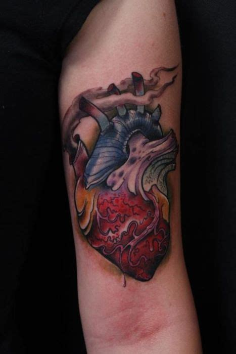 yellow  white heart tattoos images  pinterest
