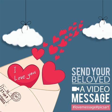 picsarts video export  share love messages