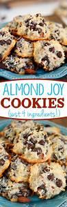 Almond Joy Cookies - Just 4 Ingredients | Recipe | Almond ...