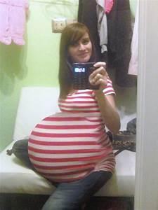 Pregnant Belly Huge Quintuplets Belly
