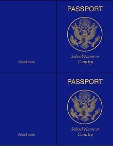 Passport Template For Students Classroom Passport Template Flex Passport Template