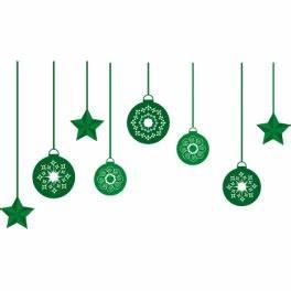 Boule De Noel Verte : stickers guirlande de boules de no l verte color stickers ~ Teatrodelosmanantiales.com Idées de Décoration