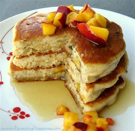 Gluten Free Spiced Peach Pancakes Recipe