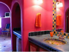 43 Bright And Colorful Bathroom Design Ideas DigsDigs Pick A Bright Backdrop That Reflects The Colors In The Room Design The Internet Bright Click To Share Paint The Internet Bright Click To Eclectic Interior Home Interiors