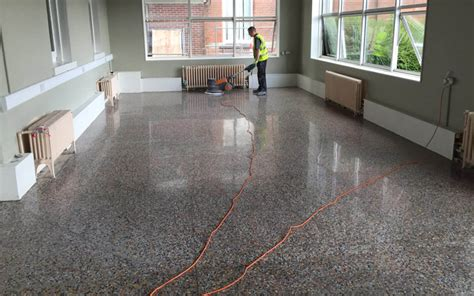 terrazzo flooring a neglected terrazzo floor restored and transformed p mac