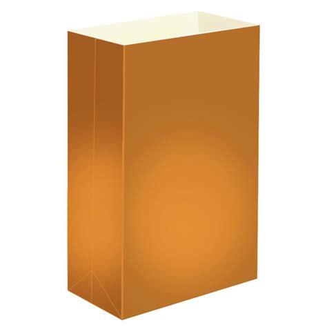 lumabase plastic tan luminaria bags 12 count 50112 the