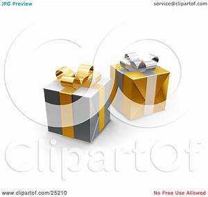 Clipart Illustration of Two Unopened Christmas Gifts ...