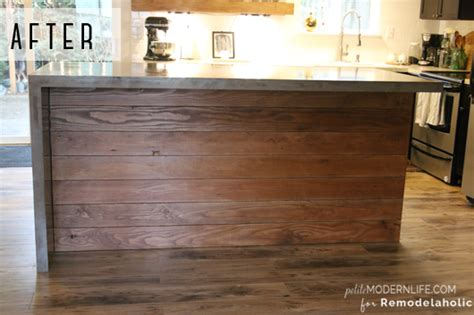 walnut kitchen island remodelaholic diy concrete kitchen island reveal how to
