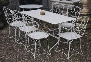 Salon De Jardin Fer Forgé Occasion : table de jardin en fer forg occasion ~ Teatrodelosmanantiales.com Idées de Décoration