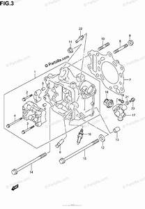 Suzuki Scooters 2003 Oem Parts Diagram For Cylinder Head