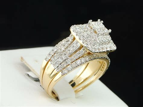 14k yellow gold princess diamond engagement ring