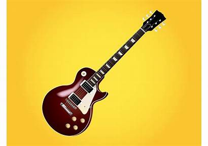 Guitar Paul Les Vector Silhouette Electric Gibson